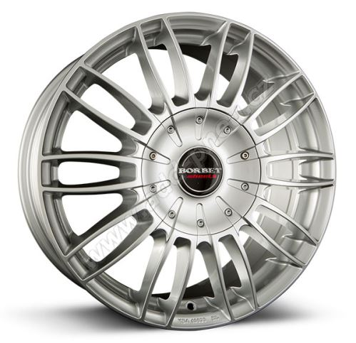 Alu disk Borbet CW 3 7.5x18, 5x120, 65.1, ET35 sterling silver