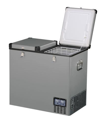 Přenosná kompresorová autochladnička Indel B TB118DD Steel 12/24/230V 118 litrů