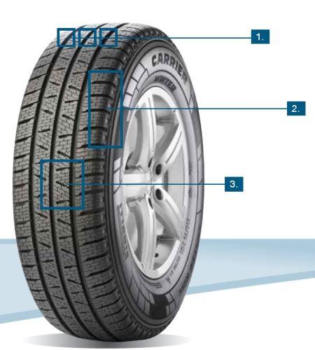 Zimní pneumatika Pirelli CARRIER WINTER 225/55R17 109T C