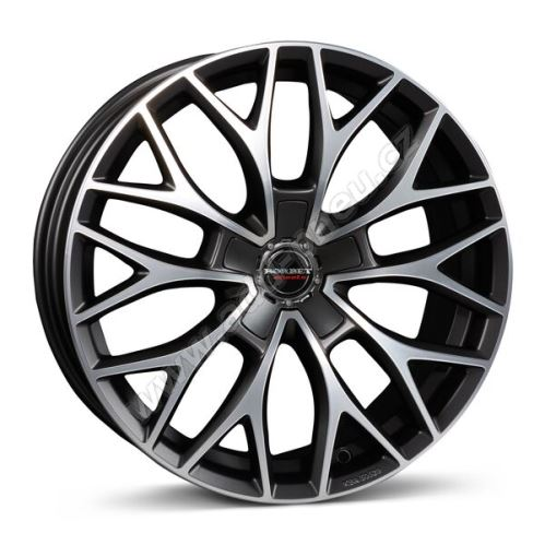 Alu disk Borbet DY 8x18, 5x112, 72.5, ET40 dark grey polished matt