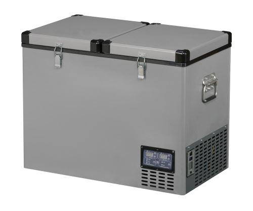 Přenosná kompresorová autochladnička Indel B TB92DD Steel 12/24/230V 92 litrů