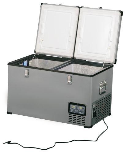 Přenosná kompresorová autochladnička Indel B TB65DD Steel 12/24/230V 65 litrů