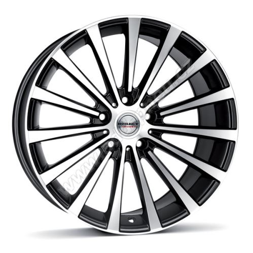 Alu disk Borbet BLX 8.5x19, 5x114,3, 70.5, ET40 black polished matt