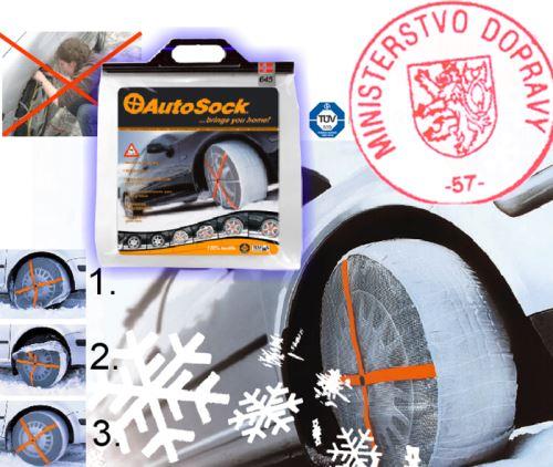 Textilní sněhové řetězy AUTOSOCK velikost 66